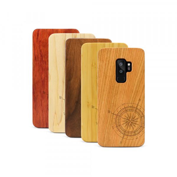 Galaxy S9+ Hülle Kompass aus Holz