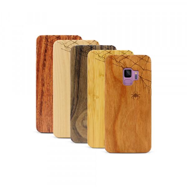Galaxy S9 Hülle Spinnennetz aus Holz