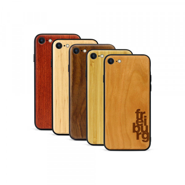 iPhone 8 & SE Hülle fr ei bu rg aus Holz