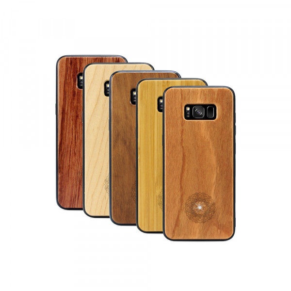 Galaxy S8 Hülle Mandala Swarovski® Kristalle aus Holz