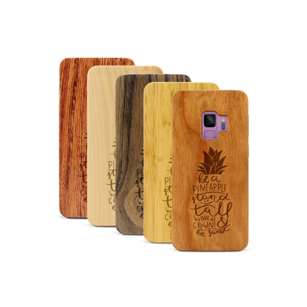 Galaxy S9 Hülle Be a Pineapple aus Holz