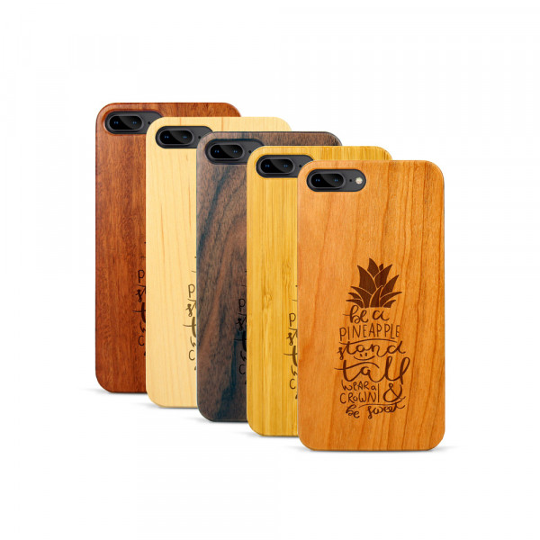 iPhone 7 & 8 Plus Hülle Be a Pineapple aus Holz
