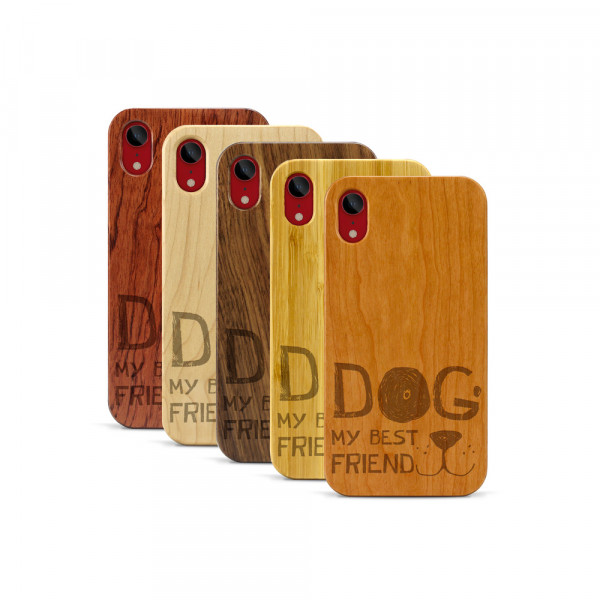 iPhone XR Hülle Dog best friend aus Holz