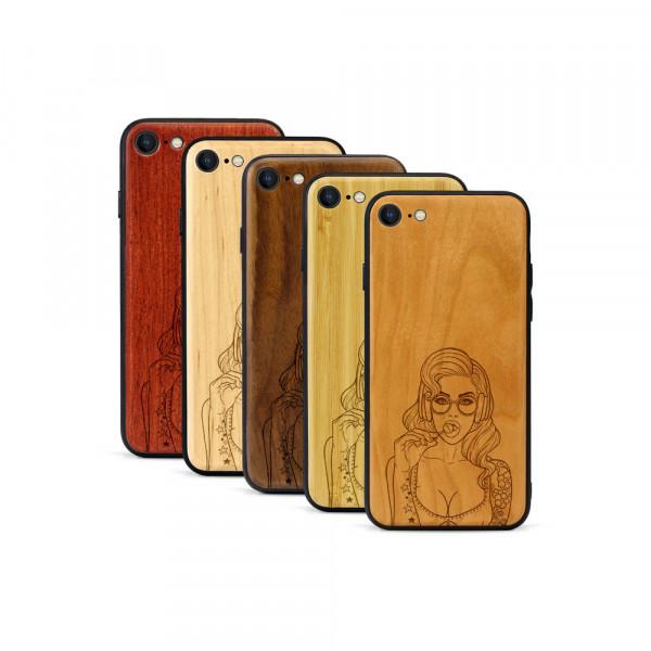 iPhone 8 & SE Hülle Lolli Pop Art aus Holz