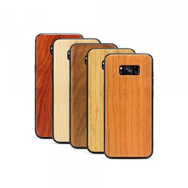 Galaxy S8+ Hülle aus Holz ohne Gravur