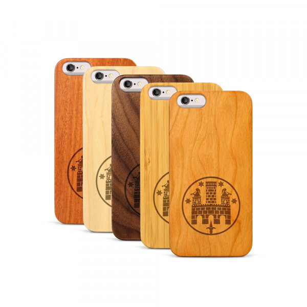 iPhone 6 & 6S Hülle Freiburger Wasserschlössle aus Holz