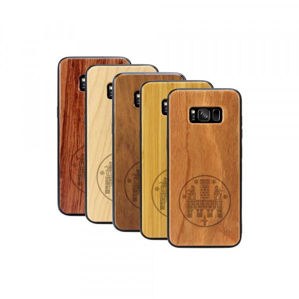 Galaxy S8+ Hülle Freiburger Wasserschlössle aus Holz