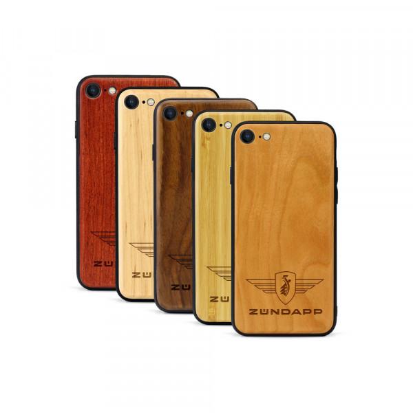 iPhone 8 & SE Hülle Zündapp Logo aus Holz