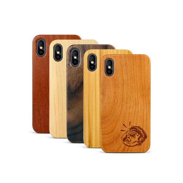 iPhone X & Xs Hülle Ouch aus Holz