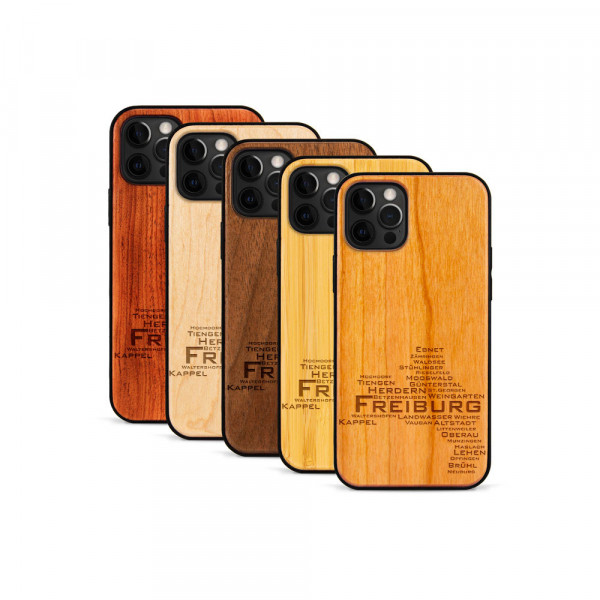 iPhone 12 Pro Max Hülle Freiburg Stadtteile aus Holz