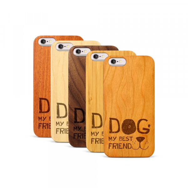 iPhone 6 & 6S Hülle Dog best friend aus Holz
