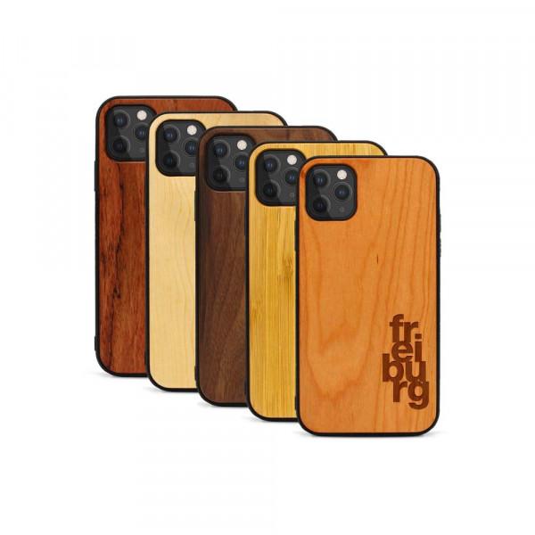 iPhone 11 Pro Hülle fr ei bu rg aus Holz