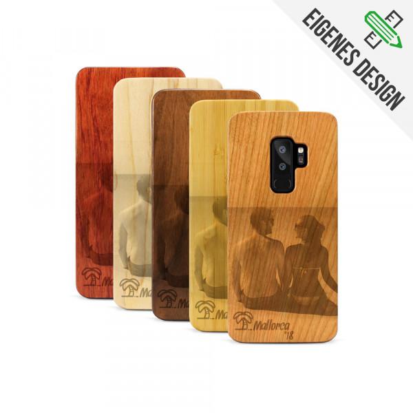 Galaxy S9+ Hülle aus Holz selber gestalten mit individueller Gravur