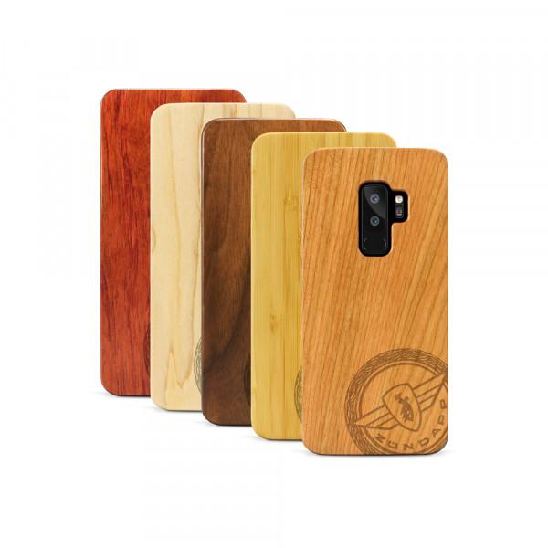 Galaxy S9+ Hülle Zündapp Logo Klassik aus Holz