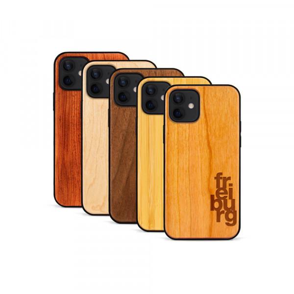 iPhone 12 & 12 Pro Hülle fr ei bu rg aus Holz
