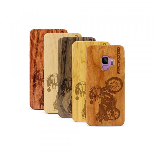 Galaxy S9 Hülle Zündapp KS 80 aus Holz