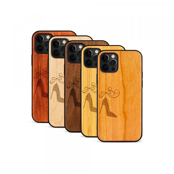 iPhone 12 Pro Max Hülle Hanging Stiletto aus Holz