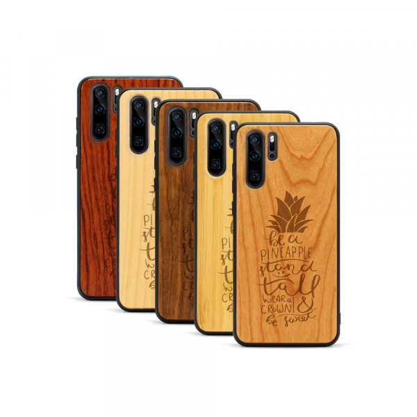 P30 Pro Hülle Be a Pineapple aus Holz
