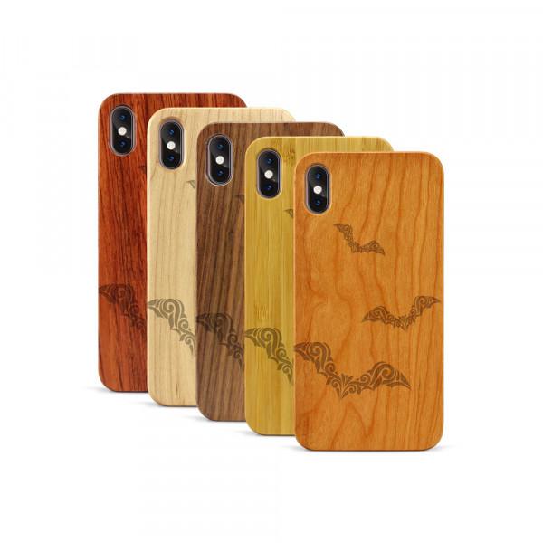 iPhone XS Max Hülle Fledermaus Ornamente aus Holz