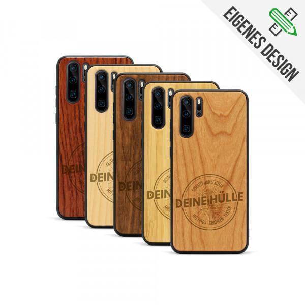 P30 Pro Hülle aus Holz selber gestalten mit individueller Gravur