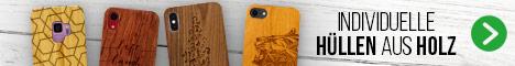 Hüllen aus Holz für dein Smartphone. Perfekt graviert von Midoki.