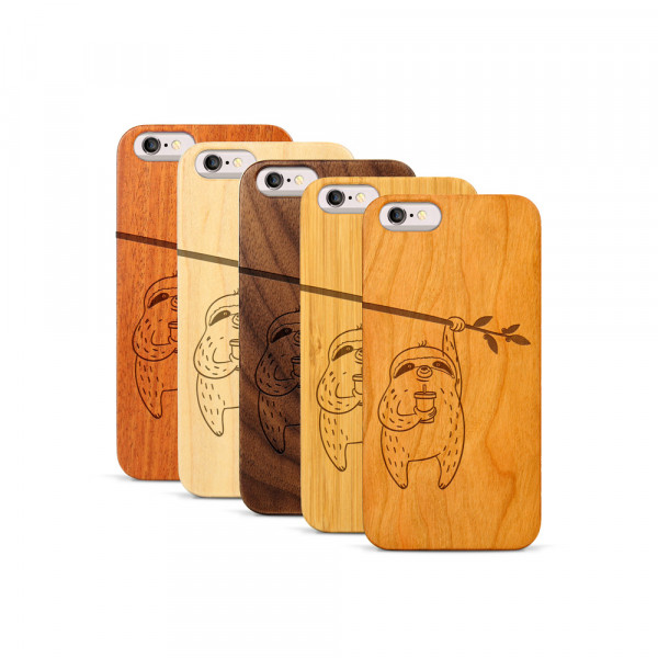 iPhone 6 & 6S Hülle Faultier aus Holz