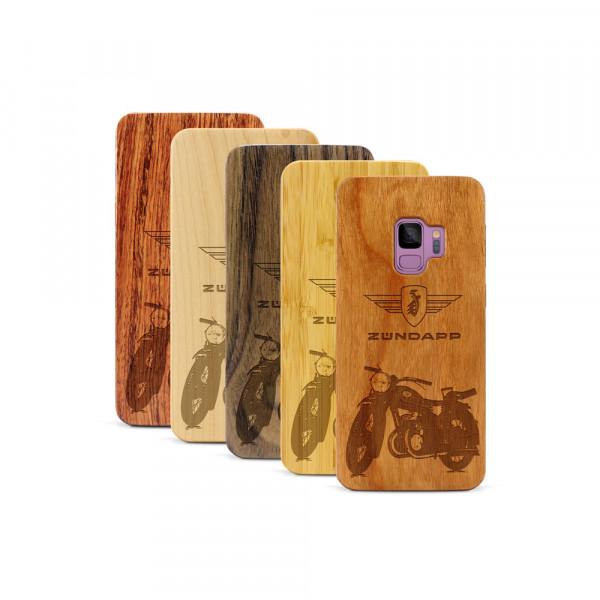 Galaxy S9 Hülle Zündapp DB 200 aus Holz