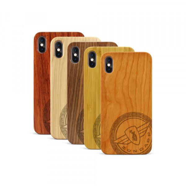 iPhone XS Max Hülle Zündapp Logo Klassik aus Holz