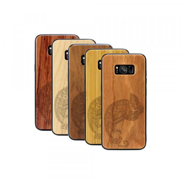 Galaxy S8 Hülle Chamäleon aus Holz