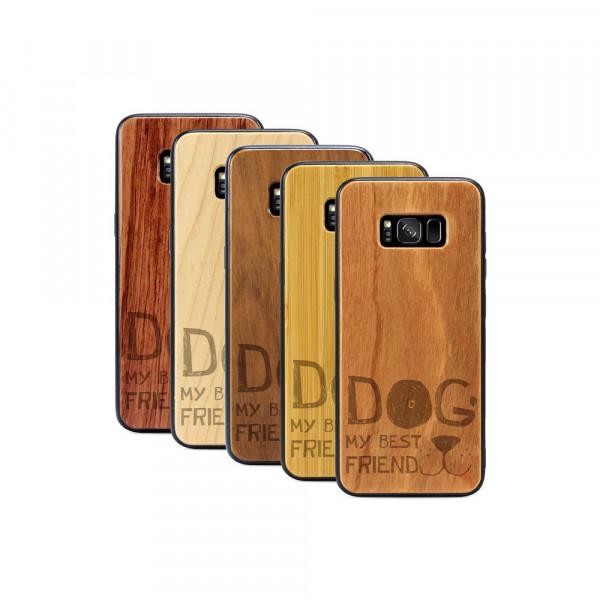 Galaxy S8+ Hülle Dog best friend aus Holz