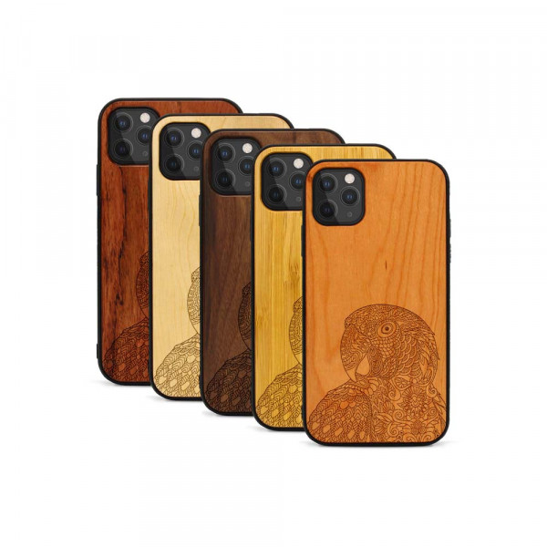 iPhone 11 Pro Max Hülle Papagei aus Holz