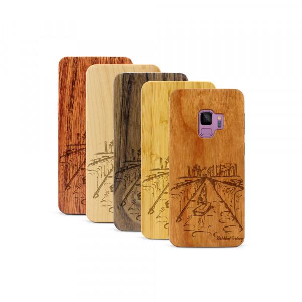 Galaxy S9 Hülle Freiburg Bächleboot aus Holz