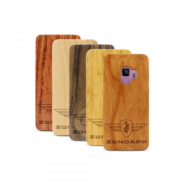 Galaxy S9 Hülle Zündapp Logo aus Holz