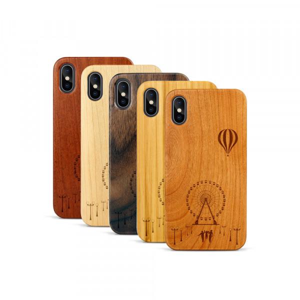 iPhone X & Xs Hülle Jahrmarkt aus Holz