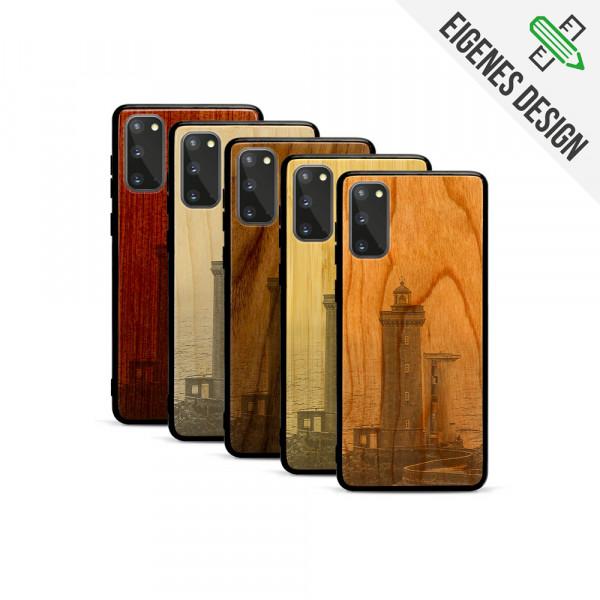 Galaxy S20 Hülle aus Holz selber gestalten mit individueller Gravur