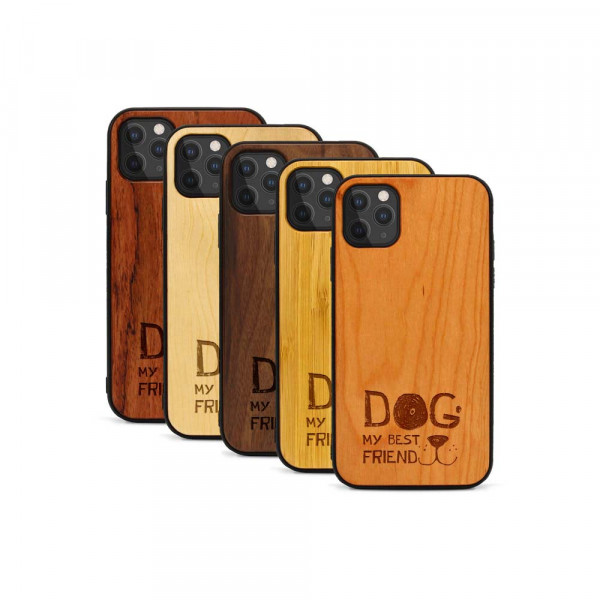 iPhone 11 Pro Hülle Dog best friend aus Holz