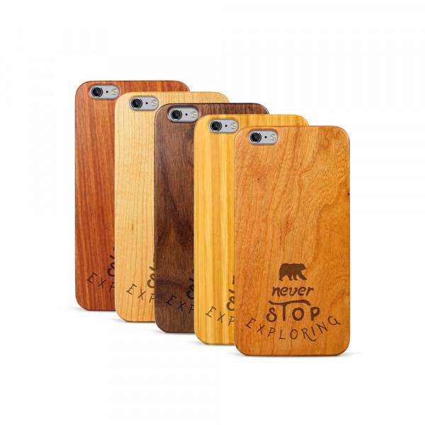 iPhone 6 & 6S Plus Hülle Never Stop Exploring aus Holz