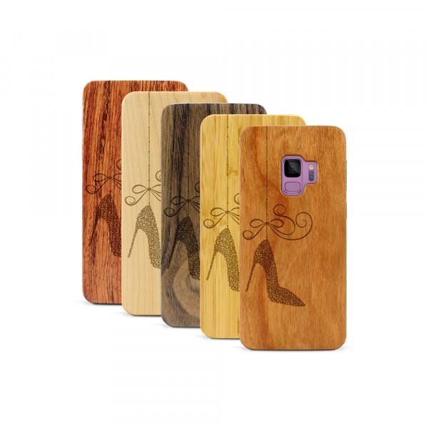 Galaxy S9 Hülle Hanging Stiletto aus Holz
