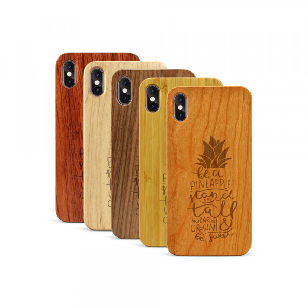 iPhone XS Max Hülle Be a Pineapple aus Holz
