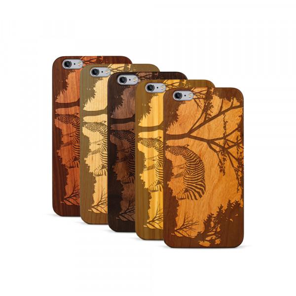 iPhone 6 & 6S Plus Hülle Wildlife Zebra aus Holz