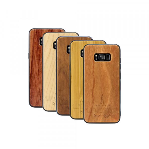 Galaxy S8 Hülle Believe in Unicorns aus Holz