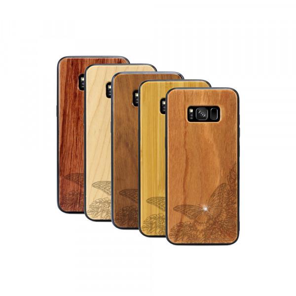 Galaxy S8+ Hülle Schmetterling Swarovski® Kristalle aus Holz