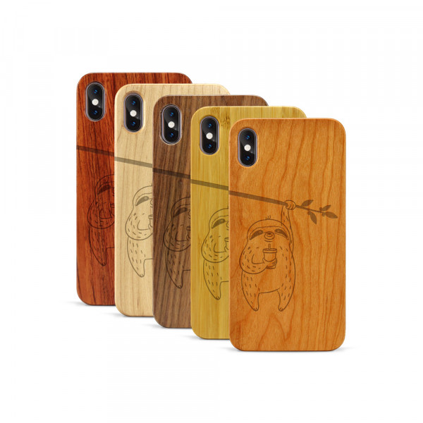 iPhone XS Max Hülle Faultier aus Holz