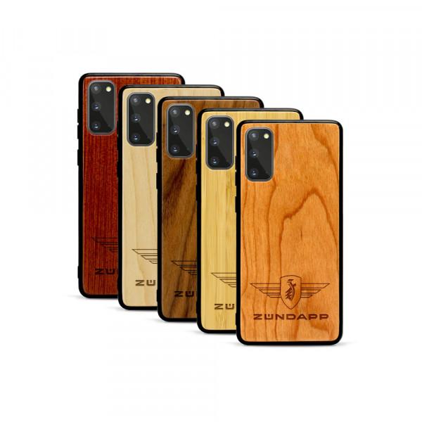 Galaxy S20 Hülle Zündapp Logo aus Holz