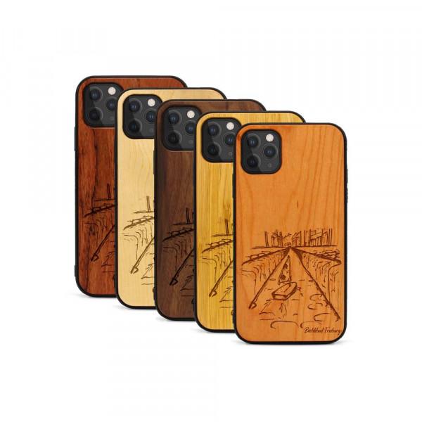 iPhone 11 Pro Hülle Freiburg Bächleboot aus Holz