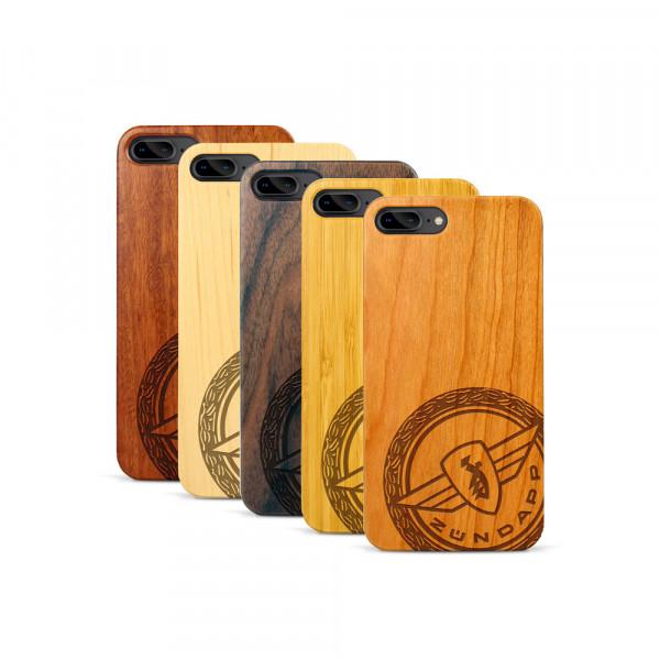 iPhone 7 & 8 Plus Hülle Zündapp Logo Klassik aus Holz