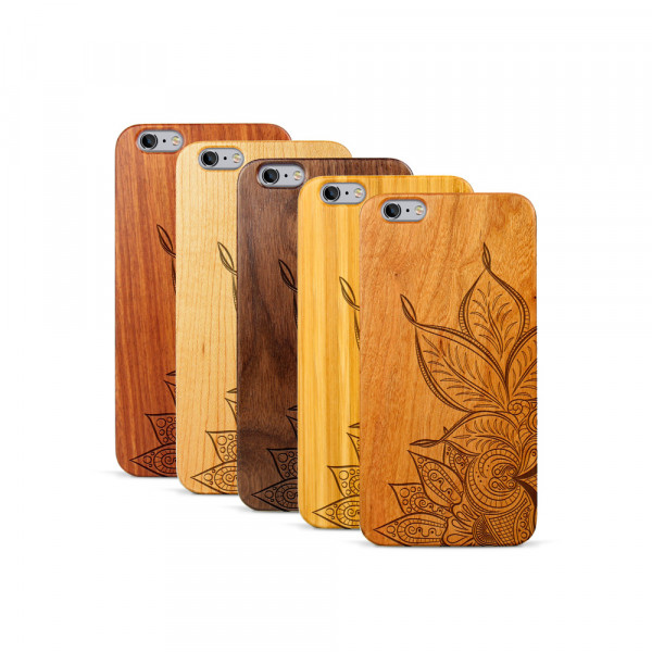 iPhone 6 & 6S Plus Hülle Mandala aus Holz
