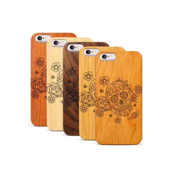 iPhone 6 & 6S Hülle Flower Totem aus Holz