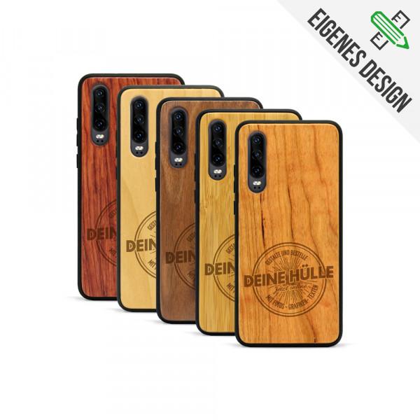 P30 Hülle aus Holz selber gestalten mit individueller Gravur
