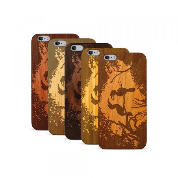 iPhone 6 & 6S Plus Hülle Wildlife Paradiesvögel aus Holz